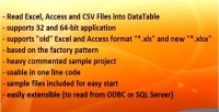 X to datatable convert csv access excel