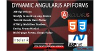 Dynamic form angularjs & driven sql ms