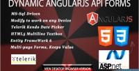 Dynamic form angularjs & driven sql ms