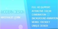 Login registration form in design materialize mvc