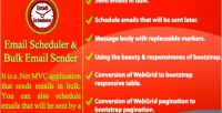 Scheduler email & sender email bulk