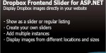 Frontend dropbox slider net asp for