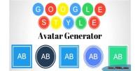 Style google generator avatar text