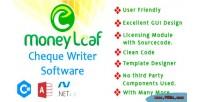 Leaf money cheque writer c software