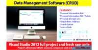 Management data software crud full with code source project