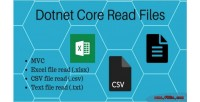 Core dotnet read csv excel file text and