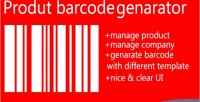 Label product barcode generator