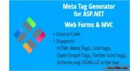 Meta tag generator for asp net mvc forms web