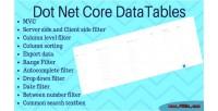 Net dot grid datatables core