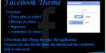 Theme facebook for net