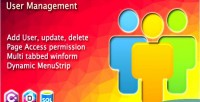 Management user & dynamic with menustrip access winform in privilege