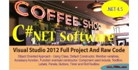 Shop cafe billing system c full net project code raw and