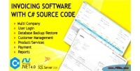 Software invoicing with code source c