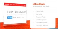 A ebloodbank premium system bank blood