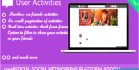 Activities user crea8social for addon