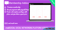 Addon membership for crea8social