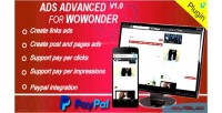 Ads advanced for wowonder 3 2 1