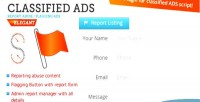 Ads classified report listing