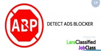 Ads detect blocker for plugin jobclass & laraclassified