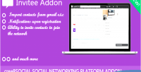 Advance invitee invite crea8social for system