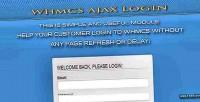 Ajax whmcs login