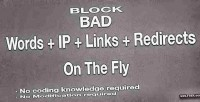 Bad block words redirects links ip