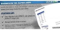 Blacklist domains whmcs addon