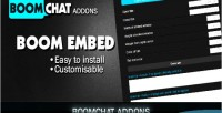 Boom embed for boomchat chat ajax php