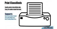 Classifieds print plugin