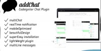 Codeigniter addchat chat plugin