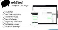 Codeigniter addchat chat plugin