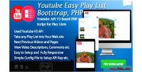 Easy youtube play bootstrap list script php based