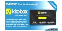 Ema mailwizz integration io kickbox with
