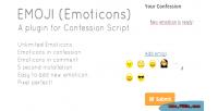 Emoji premium emoticon plugin scr confession for