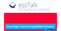 Esotalk forum plugin envato purchaser validate licensing