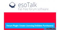 Esotalk forum plugin envato purchaser validate licensing