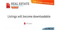 Estate real pdf export