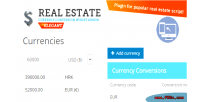 Estate real widget conversion currency