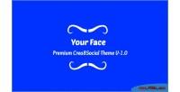 Face frond end back crea8social theme end face