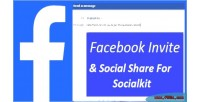 Facebook invite with social socialkit for share