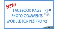 Facebook photo comments for v2 pro pes