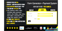 Generator with payment system php ajax generator