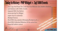 In today widget php history