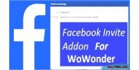 Invite facebook wowonder for addon