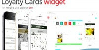 Loyalty cards for mobile pro builder site