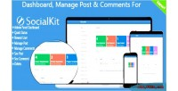 Manage dashboard post socialkit for comments