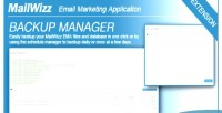 Manager backup ema mailwizz for