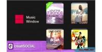 Music crea8social plugin