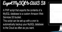 Mysql backup s3 amazon to
