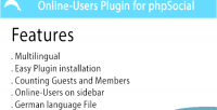 Online users phpsocial for plugin